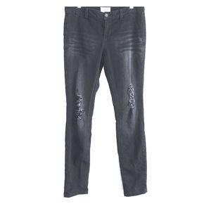 BKE Buckle Black Distressed Stretch Skinny Jeans
